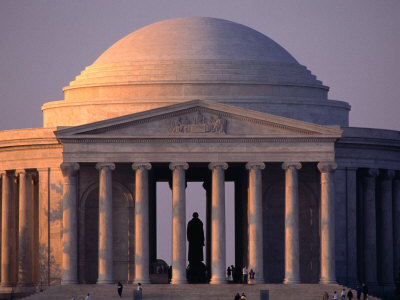 Thomas Jefferson Memorial Inspired by the Pantheon in Rome, Washington DC, USA