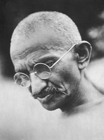 Portrait of Pacifist and Advocate of India's Independence from Great Britain, Mohandas Gandhi