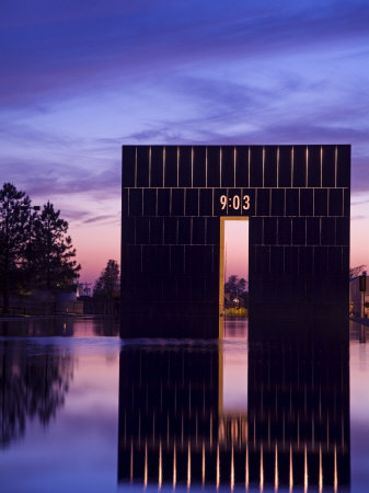 Gate of Time and Reflecting Pool, Oklahoma City National Memorial, Oklahoma