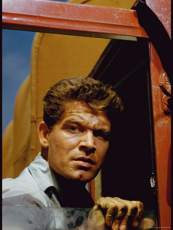 Stephen Boyd on Location in Provence for Motion Picture The Big Gamble