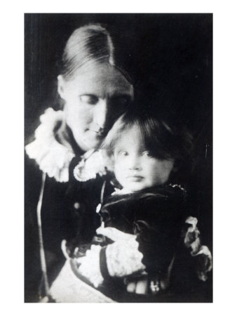Virginia Woolf, with Her Mother Julia, 1884