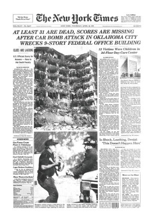 New York Times, April 20, 1995: Oklahoma City Bombing
