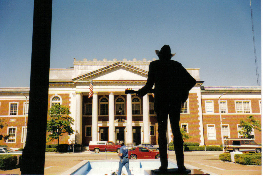 Hank Williams statue; Montgomery, AL