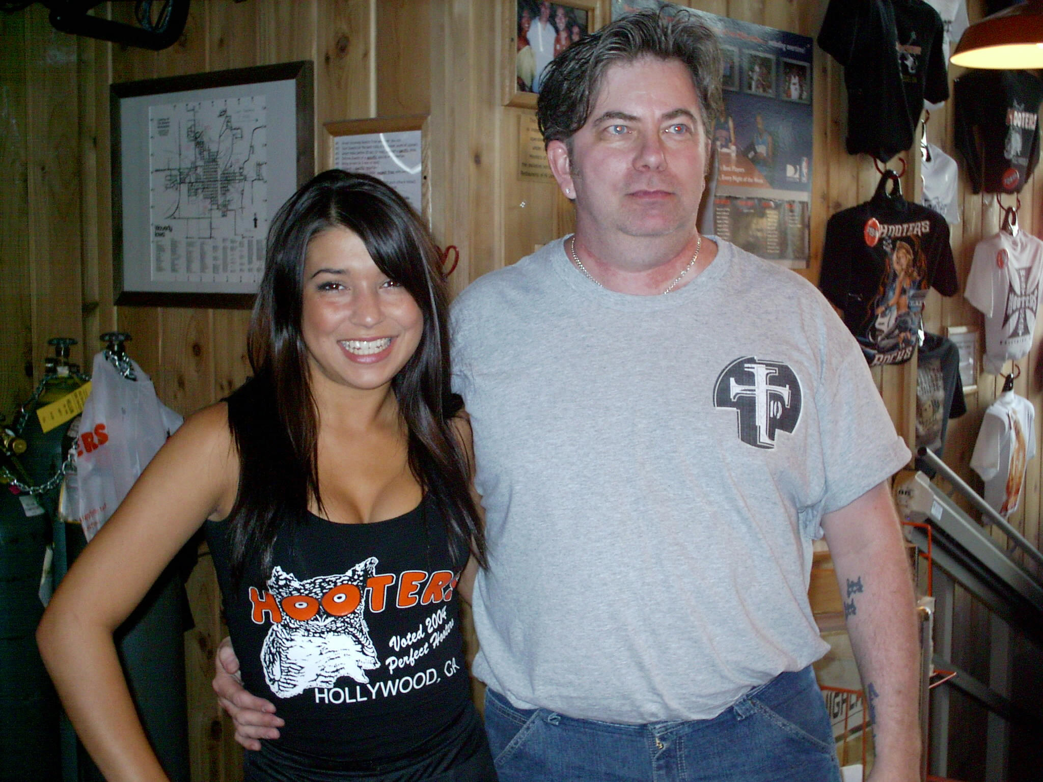 Todd with LA Hooters girl