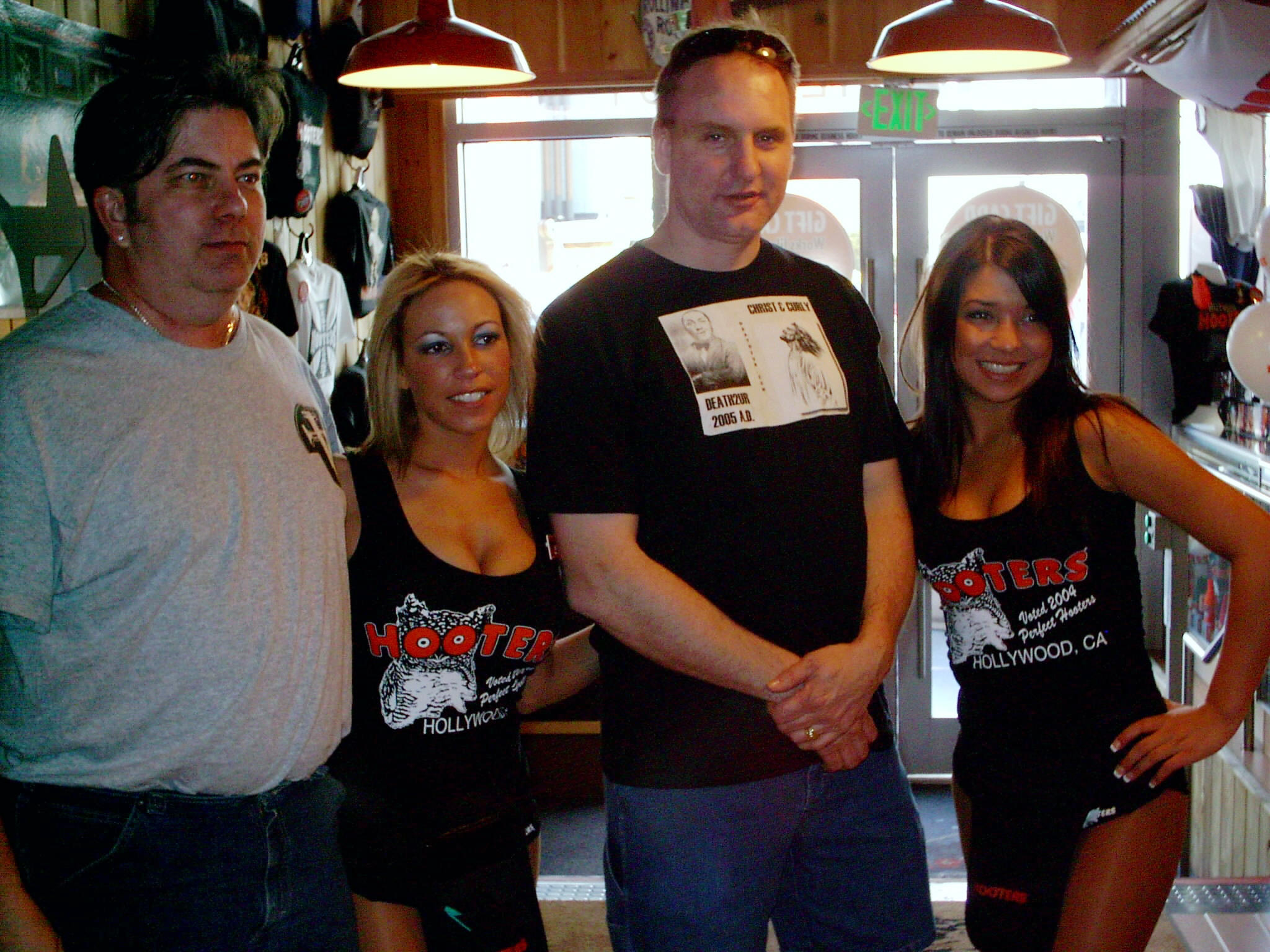 Todd and Paul with LA Hooters girls