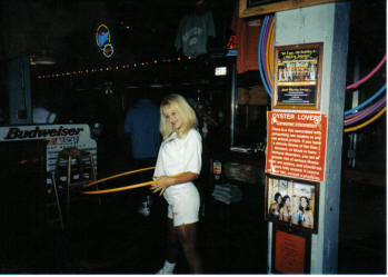 Hooters girl and Hula Hoop Nashville