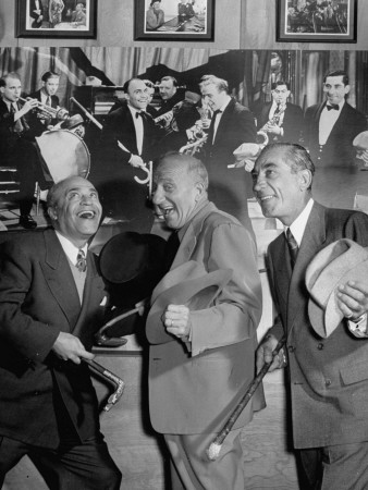 Jimmy Durante with Eddie Jackson and Lou Clayton