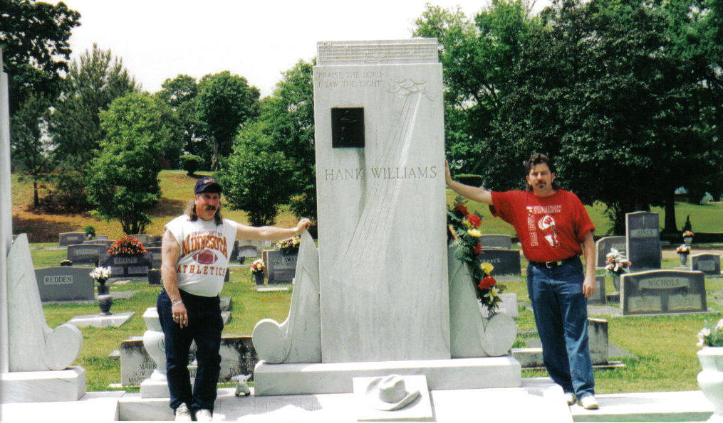 Hank Williams grave with Todd and Tom
