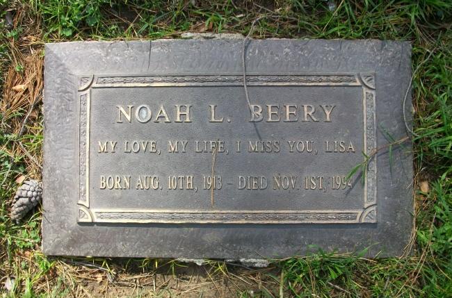 noah beery gravesite
